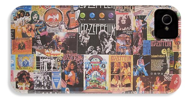 Led Zeppelin Years Collage IPhone 4 Case by Donna Wilson