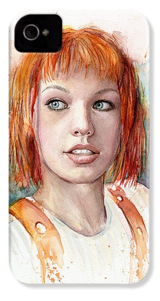 Leeloo Portrait Multipass The Fifth Element IPhone 4 Case by Olga Shvartsur