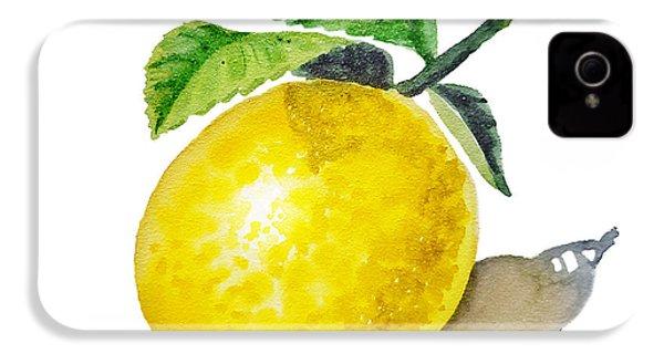 Artz Vitamins The Lemon IPhone 4 Case by Irina Sztukowski