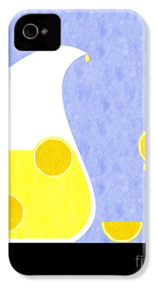 Lemonade And Glass Blue IPhone 4 Case by Andee Design