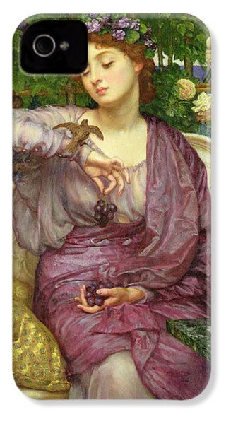 Lesbia And Her Sparrow IPhone 4 Case by Sir Edward John Poynter