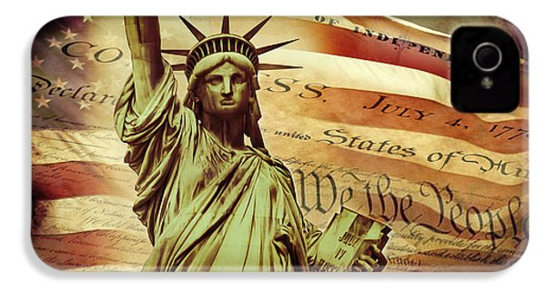Declaration Of Independence IPhone 4 / 4s Case by Az Jackson