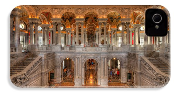 Library Of Congress IPhone 4 Case by Steve Gadomski