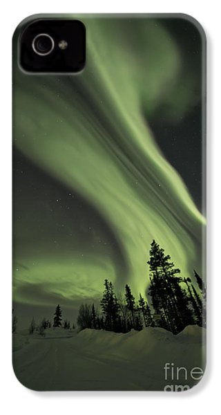 Light Swirls Over The Midnight Dome IPhone 4 Case