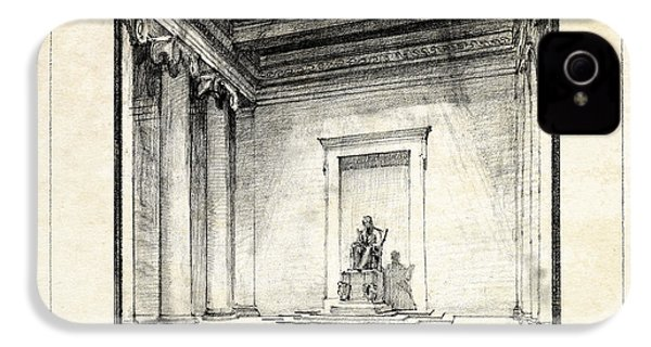 Lincoln Memorial Sketch IIi IPhone 4 / 4s Case by Gary Bodnar