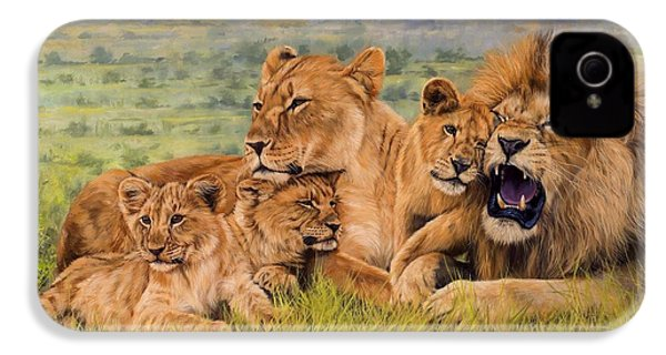 Lion Family IPhone 4 Case by David Stribbling