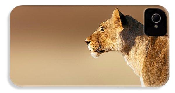 Lioness Portrait IPhone 4 Case