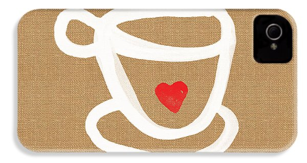 Little Cup Of Love IPhone 4 / 4s Case by Linda Woods