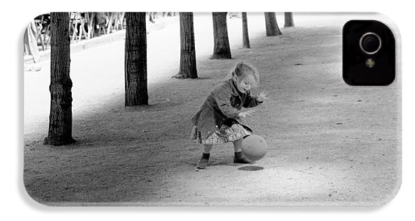 IPhone 4 Case featuring the photograph Little Girl With Ball Paris by Dave Beckerman
