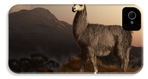 Llama Dawn IPhone 4 / 4s Case by Daniel Eskridge