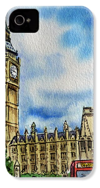 London England Big Ben IPhone 4 Case by Irina Sztukowski