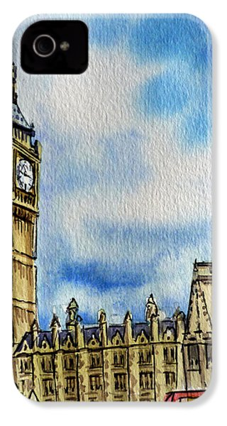 London England Big Ben IPhone 4 Case by Irina Sztukowski