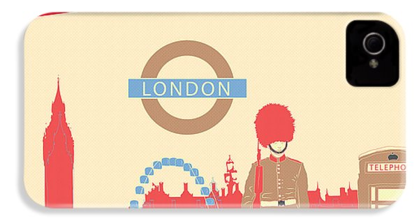 London England IPhone 4 Case by Famenxt DB