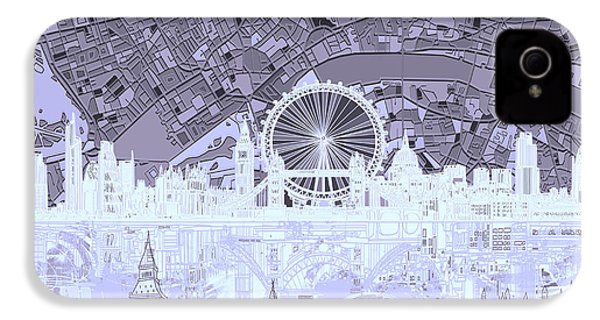 London Skyline Abstract 10 IPhone 4 Case