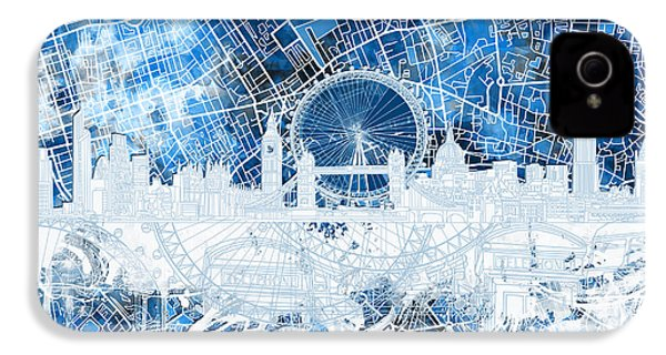 London Skyline Abstract 13 IPhone 4 Case