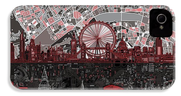 London Skyline Abstract 6 IPhone 4 Case