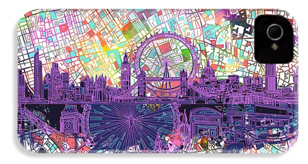 London Skyline Abstract IPhone 4 Case