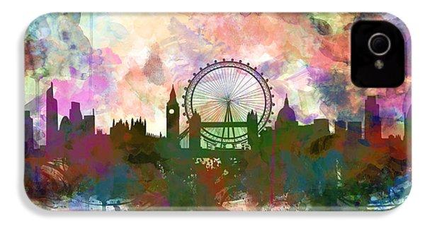 London Skyline Watercolor IPhone 4 Case
