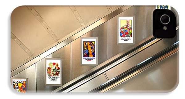 London Underground Poster Collection IPhone 4 Case by Mark Rogan