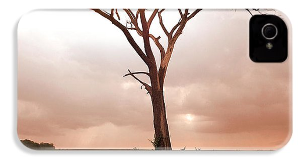 IPhone 4 Case featuring the photograph Lonely Tree by Ricky L Jones