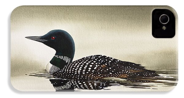 Loon In Still Waters IPhone 4 / 4s Case by James Williamson