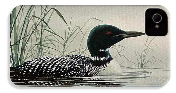 Loon Near The Shore IPhone 4 / 4s Case by James Williamson