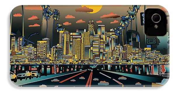 Los Angeles Skyline Abstract 2 IPhone 4 Case