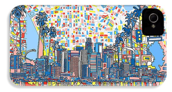 Los Angeles Skyline Abstract 3 IPhone 4 Case