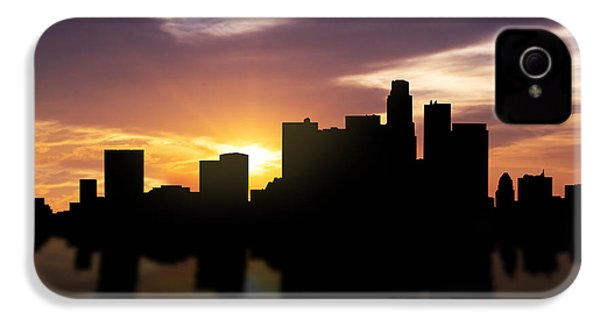 Los Angeles Sunset Skyline  IPhone 4 Case by Aged Pixel