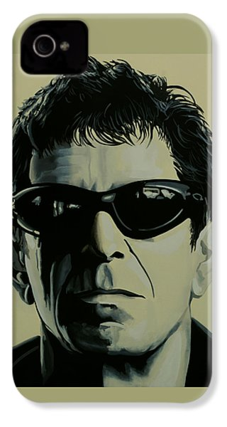 Lou Reed Painting IPhone 4 Case by Paul Meijering