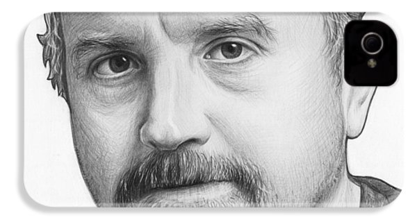 Louis Ck Portrait IPhone 4 / 4s Case by Olga Shvartsur