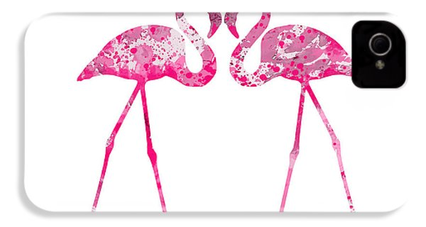 Love Flamingos IPhone 4 Case by Watercolor Girl
