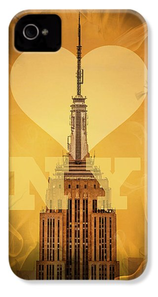 Love New York IPhone 4 Case by Az Jackson