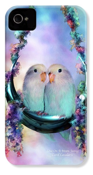 Love On A Moon Swing IPhone 4 / 4s Case by Carol Cavalaris