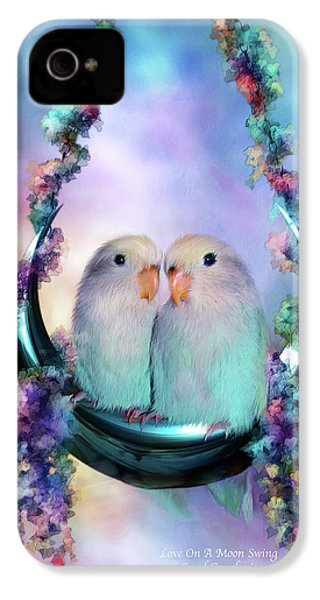 Love On A Moon Swing IPhone 4 Case by Carol Cavalaris