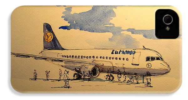 Lufthansa Plane IPhone 4 Case by Juan  Bosco