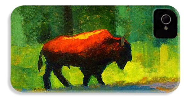 Lumbering IPhone 4 Case by Nancy Merkle