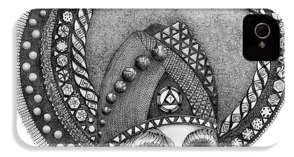 IPhone 4 Case featuring the drawing . by James Lanigan Thompson MFA