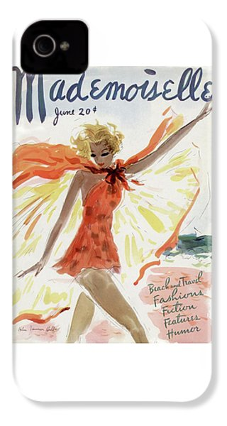 Mademoiselle Cover Featuring A Model At The Beach IPhone 4 Case