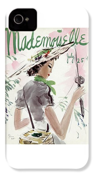 Mademoiselle Cover Featuring A Woman Holding IPhone 4 Case