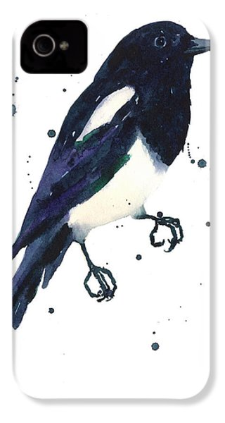 Magpie Painting IPhone 4 / 4s Case by Alison Fennell