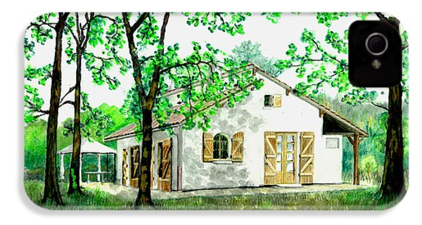 IPhone 4 Case featuring the painting Maison En Medoc by Marc Philippe Joly
