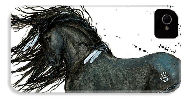 Majestic Friesian Horse 112 IPhone 4 Case