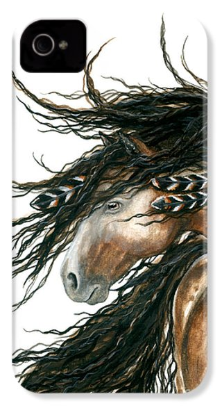 Majestic Pinto Horse 80 IPhone 4 Case by AmyLyn Bihrle