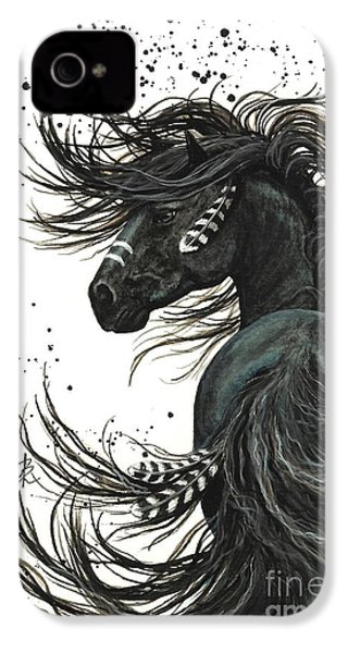 Majestic Spirit Horse 65 IPhone 4 Case by AmyLyn Bihrle