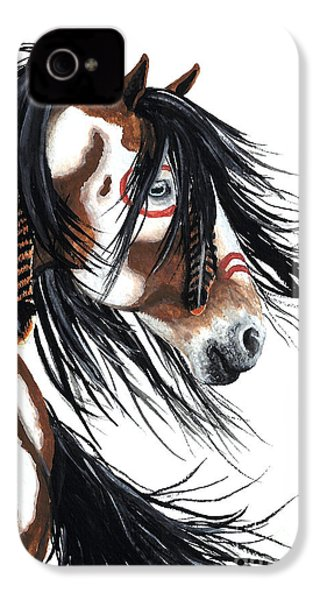 Majestic Pinto Horse IPhone 4 / 4s Case by AmyLyn Bihrle