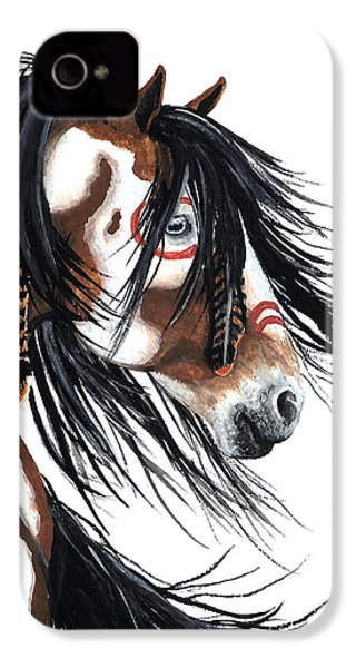 Majestic Pinto Horse IPhone 4 Case by AmyLyn Bihrle