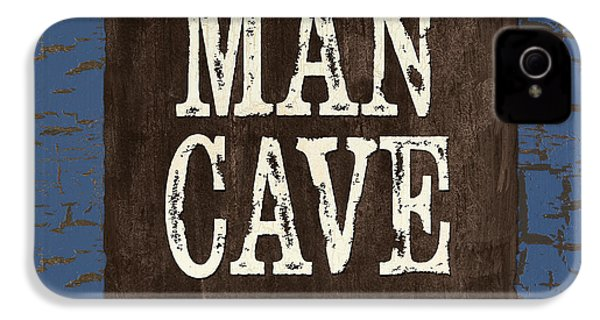 Man Cave Enter At Your Own Risk IPhone 4 Case by Debbie DeWitt