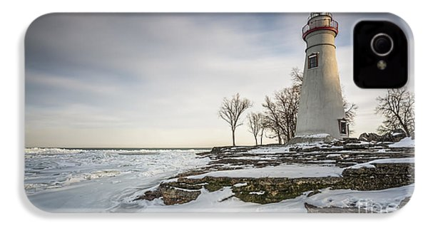 Marblehead Lighthouse Winter IPhone 4 / 4s Case by James Dean