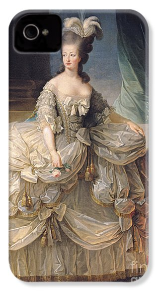 Marie Antoinette Queen Of France IPhone 4 Case by Elisabeth Louise Vigee-Lebrun